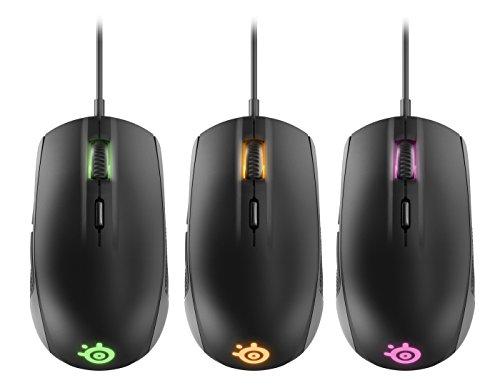 SteelSeries Rival 100 Optische Gaming-Maus (6 Tasten, RGB-Beleuchtung) schwarz - 5
