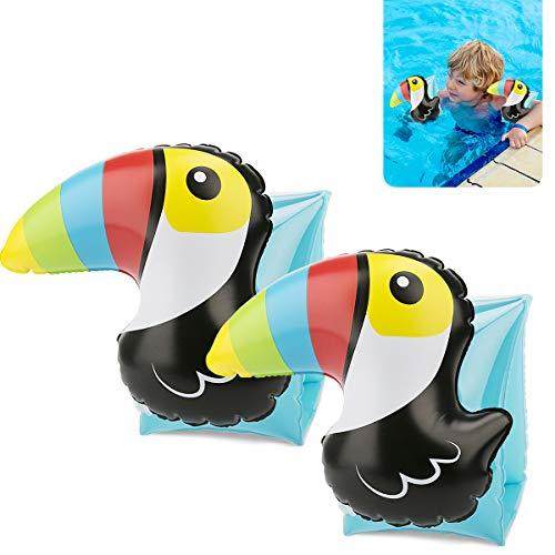 VANWALK Doctor Dolphin Schwimmflügel für Kinder, Schwimmhilfen für Kleinkinder von 3-7 Jahre 15-30kg Schwimmende Armbinden für Jungen
