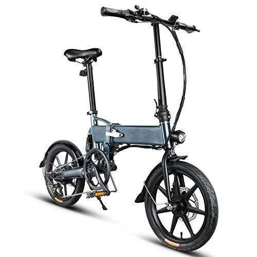 VáraKozá pedelec,e-Bike gebraucht,e-Bike Herren,Elektro Fahrrad,elektrofahrräder Faltender elektrischer Fahrrad-Fahrrad-Aluminiumlegierungs-16 Zoll-Portable 250W 25KM / H 3 Modus