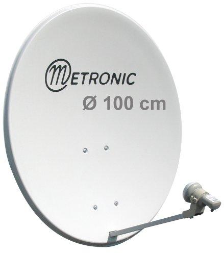 Metronic 498144 Antenne Satellite Plate H V Blanc