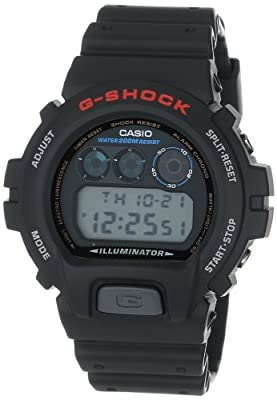Reloj CASIO G-SHOCK DW-6900-1VC Cronógrafo, Alarma, Cuenta regresiva, Sumergible 20BAR-Correa de caucho negra de J.Garcia