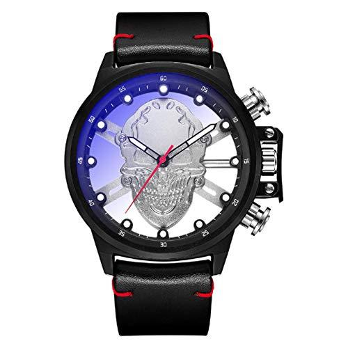 GreatFunMänner 'S Uhr Wasserdichte Chronograph Edelstahl Metall Luxus Marke Mode Business Watch Halloween Quarzuhr Edelstahl Armband Herren' S Uhr
