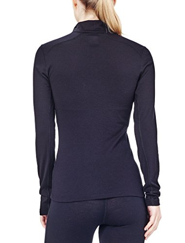 ... Icebreaker Damen Shirt Unterhemd Langarm Rollkragen Oasis Longsleeve  Half Zip Black ...