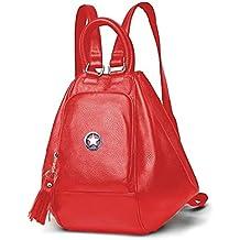 Deal Especial - Bolso mochila de Piel Vuelta para mujer multicolor multicolor talla única