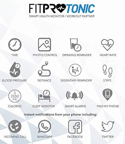 Kounga FitPro Tonic, Pulsera de Actividad Inteligente con Monitor de Sueño, Podómetro, Contador de Calorías, Pantalla a Color 3