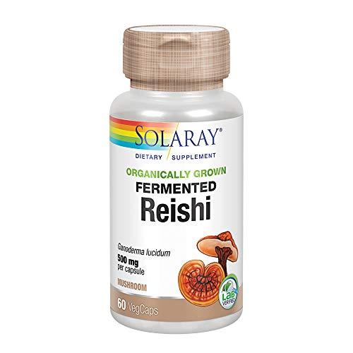 Solaray - mg de 500 de la seta de Reishi fermentado. -...
