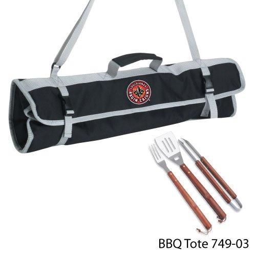 Picnic Time NCAA Louisiana Lafayette Ragin Cajuns Grill-Werkzeug-Set mit Tragetasche, 3-teilig - Cajun-grill