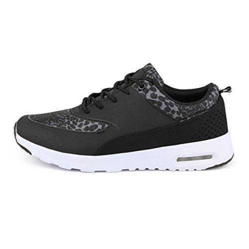 best-boots - Sneaker Donna Nero (Schwarz/Leopard)