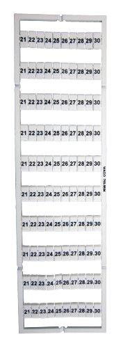 1 Stück Wago Beschriftungssystem für Etagenklemmen, Aufdruck waagerecht, 21-30 (10x)