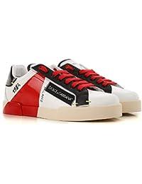 Dolce Gabbana Sneakers Portofino Uomo Bianco Rosso c4f2411881e