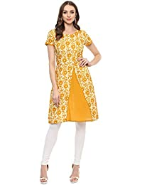 Rangeelo Rajasthan Printed Women's A-line Cotton Kurta(Special Kurti For Festival |And Party)