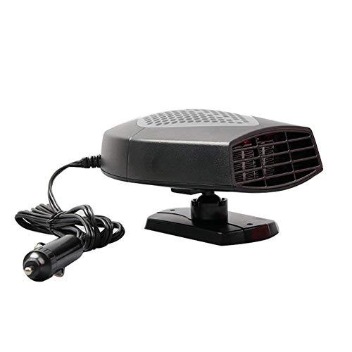 XuBa Tragbarer Auto-Heizer, schnelle Erwärmung, Auftauen, Entfroster, Entfroster, Heizlüfter Gray 12V
