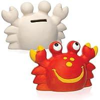 """Baker Ross Keramik-Spardosen """"Krabbe"""" für Kinder Zum Bemalen und Dekorieren – Porzellan-Bastelset für Kinder (2 Stück) preisvergleich bei kinderzimmerdekopreise.eu"""