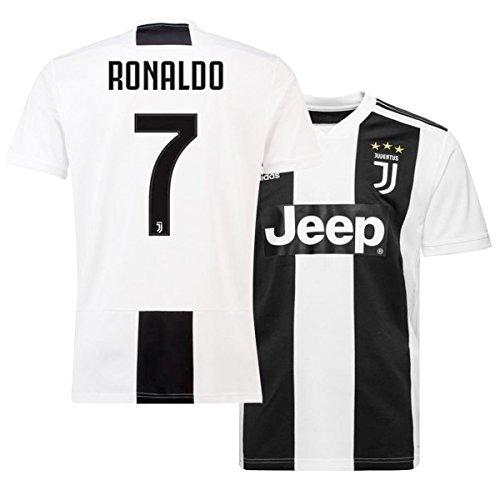 ukgiftshop 2018/19 Ronaldo 7 Juventus Home Football Club Mens Shirt Jersey Tee Top
