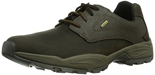camel active Evolution GTX in pelle nabuk 19 uomo Derby laccio semi scarpe., Marrone (Marrone (moka)), 46,5 UE (11,5 da uomo UK)