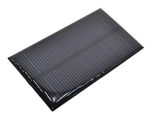 El pequeño panel solar, con tensión nominal de salida de 5V a la max. corriente de salida 200mA.  un pequeño panel de este tipo puede alimentar su proyecto de micro controlador, cargar una batería, conducir una bombilla LED o un pequeño ventilador .....