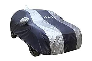 Amazon Brand - Solimo Maruti Suzuki Baleno Water Resistant Car Cover (Dark Blue & Silver)