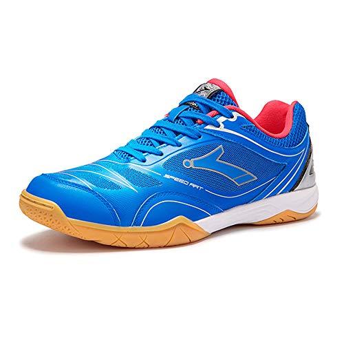 FJJLOVE Männer Badminton Schuhe, Profi-Sport-Turnschuhe Leichte Sportschuhe Breathtennisschuh Tischtennisschuhe,Blau,41