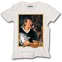 Pushertees - T-shirt uomo rugby mahori nuova zelanda ALL BLACK (Nuova Zelanda Rugby Shirts)