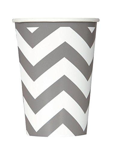 partido-enico-12-oz-chevron-paper-cups-paquete-de-6-plata