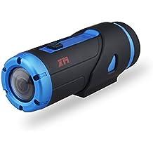 Yuntab Guerriero G1S all'aperto Sport Action Camera H.265 Wi-Fi HD 1080P Videocamera Con 3400mAh Sport 3ATM macchina fotografica di azione impermeabile con controller wireless a distanza, sostegno 32G micro SD Card & Starlight (blu) - Lungo Un Fotogramma