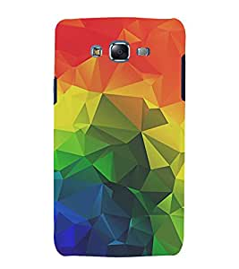FUSON Abstract Colorful Background Triangles 3D Hard Polycarbonate Designer Back Case Cover for Samsung Galaxy J5 (2015) :: Samsung Galaxy J5 Duos (2015 Model) :: Samsung Galaxy J5 J500F :: Samsung Galaxy J5 J500Fn J500G J500Y J500M