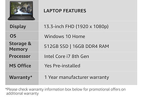 Dell Inspiron 7373 Intel Core i7 8th Gen 13.3-inch FHD Touchscreen 2-in-1 Thin and Light Laptop (16GB/512GB SSD/Windows 10 Home/MS Workplace/Silver/1.63Kg) Image 4
