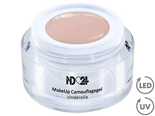 15ml - Make Up CAMOUFLAGE Aufbau - Gel cinderella - nd24 BESTSELLER - BabyBoomer Naildesign UV/LED Gelnägel Nagelgel - Studio Qualität - MADE IN GERMANY