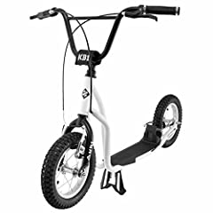 Idea Regalo - Street Surfing Monopattino Adulti e Bambini K-Bike KB Bianco e Nero Max 100 Kg