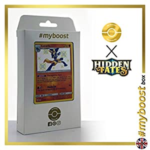 Lucario SV22/SV94 Variocolor - #myboost X Sun & Moon 11.5 Hidden Fates - Box de 10 cartas Pokémon Inglesas