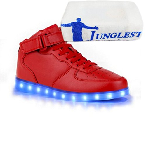 (Présents:petite serviette)JUNGLEST - Baskets Lumin High-Top de Velcro Rouge