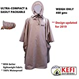 X-Pro Rain Poncho 100% Waterproof (Brown, One Size Fits All)