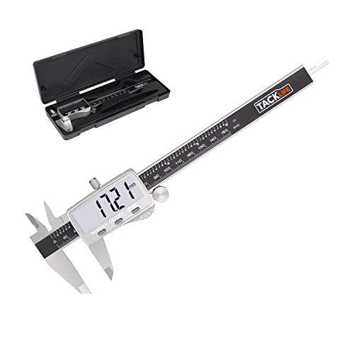 Digitaler Messschieber Schieblehre Tacklife DC02 Hochpräzise Edelstahl Messlehre Messwerkzeuge, 150mm/6 Zoll für Abständen und Durchmesser, mit LCD Display, Schutzbox
