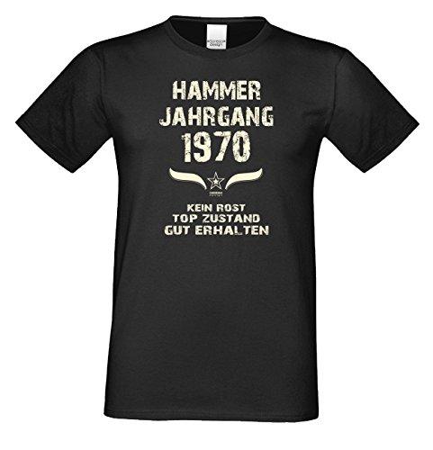 Geschenk-Set für Männer :: Hammer Jahrgang 1970 : Herren Fun T-Shirt : Geschenkidee zum 49. Geburtstag : Geburtstagsgeschenk Farbe: schwarz Gr: M