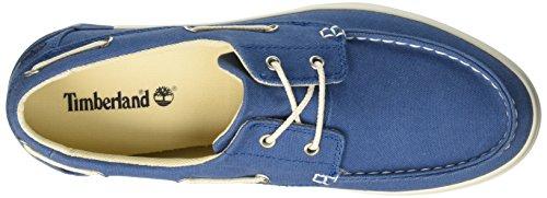 Timberland Newport Bay 2 Eye Boat Oxmykonos Blue Canvas, Chaussures Bateau Homme Bleu (Mykonos Blue Canvas)