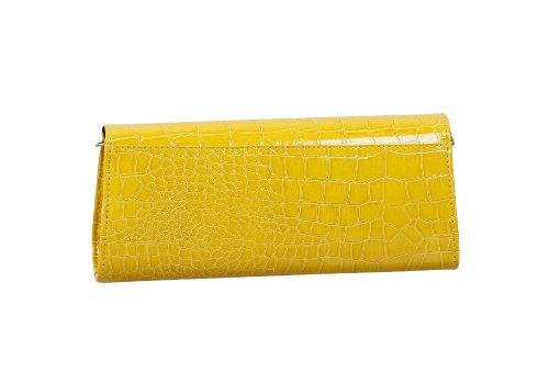 Bundle Monster, Poschette giorno donna Small Giallo (Mustard Yellow)