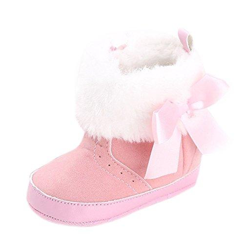 Moresave , {Chaussures premiers pas pour bébé (garçon) Rose