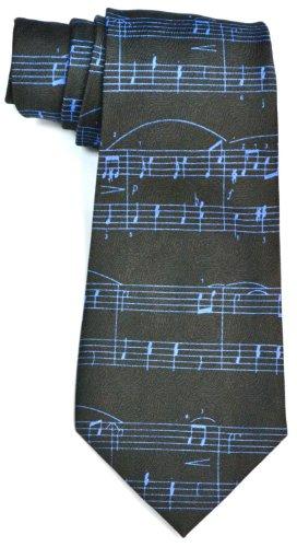Preisvergleich Produktbild Schwarz Noten Song tie hervorragende Qualität Neuheit(Black music tie)