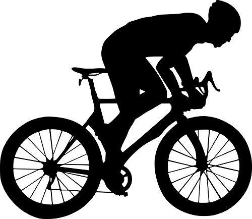 EmmiJules Wandtattoo Fahrrad Mountainbike - Made in Germany - in verschiedenen Größen und Farben -️ Kinderzimmer Junge Sport Wandsticker Wandaufkleber Wohnzimmer (50cm x 60cm, schwarz)