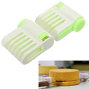 Portable DIY Cake Bread Cutter Leveler 5 Layers Slicer Cutting Fixator Tools (Random Colour)