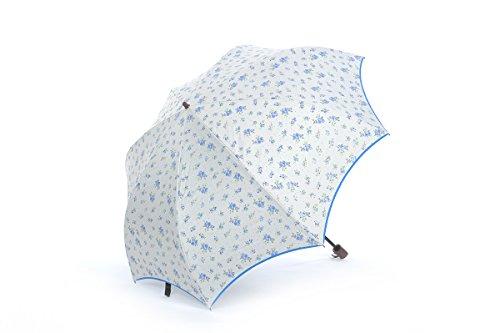 Honeystore Regenschirm 2-Falten Taschenschirm Blumen Sonnenschutz Sonnnenschirm Blau