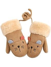 DORRISO Mignon Gants et Moufles Enfant Hiver Épaissir Chaud Gants Moufles  Ski Jouer Neige pour Enfants a8018c31133
