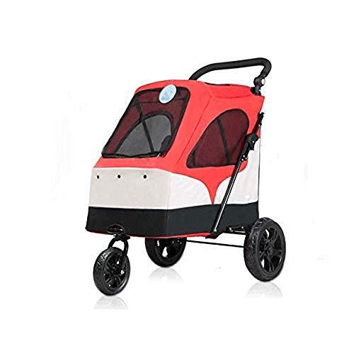 8in1 Großer Kinderwagen Großer Hundewagen Zusammenklappbarer Großraum-Jogger-Zwinger Wagen Einfach Zusammenklappbarer Reise-Hundewagen Mit 55 Kg Für Den Ausgehenden Gebrauch -