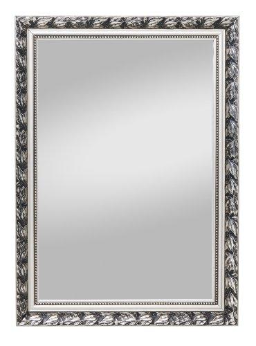 Spiegelprofi H0035570 Holzrahmenspiegel Pius, 55 x 70 cm, Silber