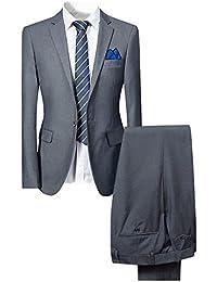 Costume Homme de Couleur Unie Un Boutons d affaire Mariage Slim fit Deux  pièces 62578c1ac1b