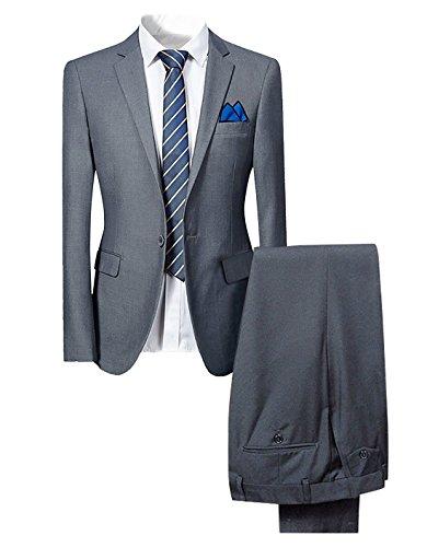 rren Anzug für Hochzeit Party Grau XXX-Large (Anzüge Bietet)