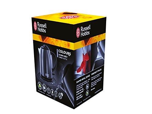 Russell Hobbs 20192-70 Colours Storm Grey Kompakt-Wasserkocher (2200 Watt, 1 l, Sicherheitsdeckel, kabellos) grau - 2