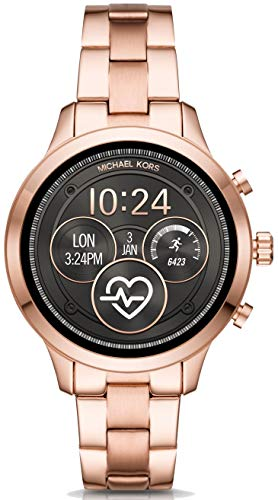 Michael Kors Womens Digital Connected Wrist Watch with Stainless Steel Strap MKT5046