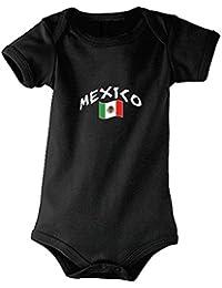 Supportershop Body Mexique Mixte Bébé, Noir, FR : XL (Taille Fabricant : 18-23 Mois)