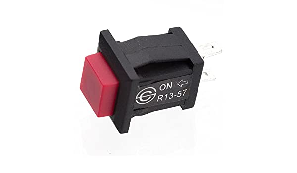 10 Pulsante da pannello rosso normalmente aperto forma quadrata
